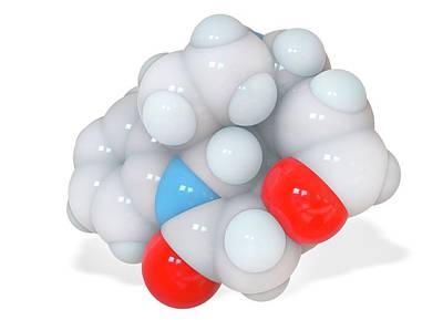 Atom Photograph - Strychnine Molecule by Ramon Andrade 3dciencia