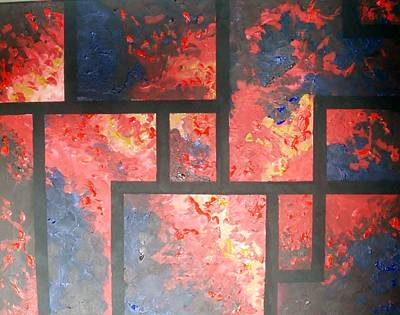Painting - Study In Red And Blue by Anne Gardner