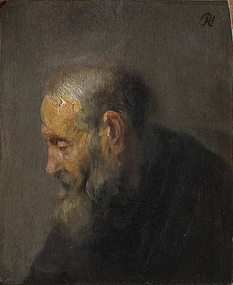 Painting - Study Of An Old Man In Profile by Celestial Images