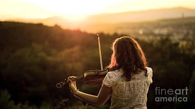 Stunning Violin Sunset Original by John Jamriska