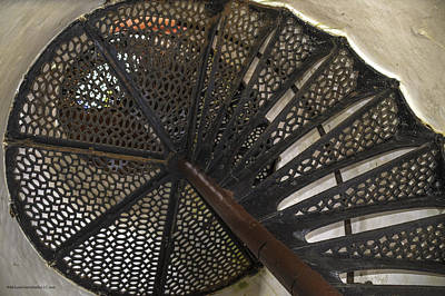 Photograph - Sturgeon Point Lighthouse Spiral Staircase by LeeAnn McLaneGoetz McLaneGoetzStudioLLCcom