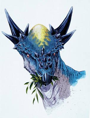 Stygimoloch Dinosaur Print by Deagostini/uig