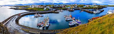 Photograph - Stykkisholmur Harbor by Alexey Stiop