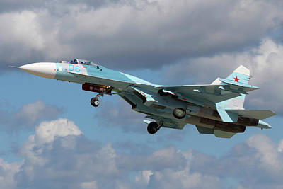 Photograph - Su-27 Jet Fighter Of The Russian Air by Artyom Anikeev