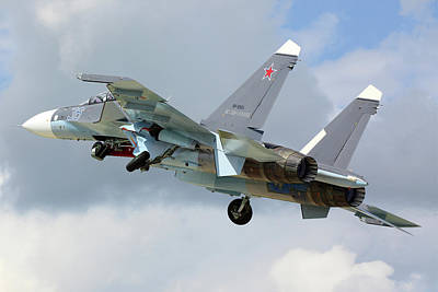Photograph - Su-30sm Jet Fighter Of The Russian Navy by Artyom Anikeev