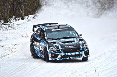 Subaru Rally Photograph - Subaru Car 75 by Rick Jackson