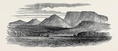 Newfoundland Drawing - Submarine Electric Telegraph Between Newfoundland And Cape by English School