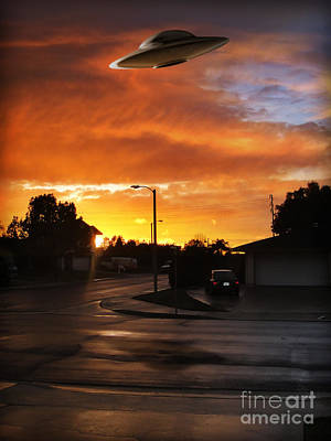 Photograph - Suburban Ufo Sighting by Gregory Dyer
