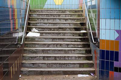 Subway Stairs Art Print