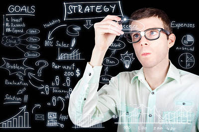 Success In Planning A Smart Business Strategy Print by Jorgo Photography - Wall Art Gallery