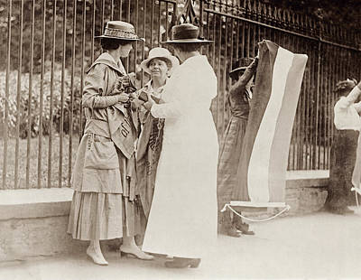 Policewoman Photograph - Suffragettes, 1917 by Granger