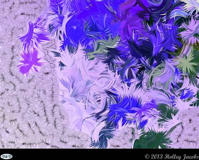 Digital Art - Sugar Baby Purple by Holley Jacobs
