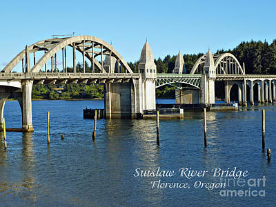 Photograph - Suislaw River Bridge by Methune Hively