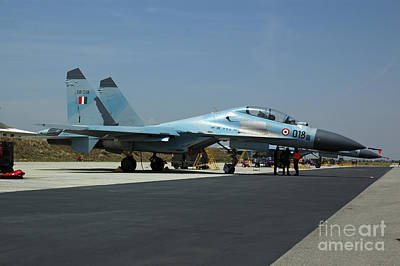 Sukhoi Photograph - Sukhoi Su-30 Aircraft From The Indian by Riccardo Niccoli