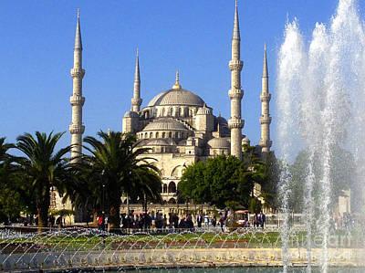 Sultanahmet Camii Blue Mosque Istanbul Turkey Art Print