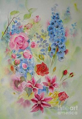 Painting - Summer Border by Beatrice Cloake