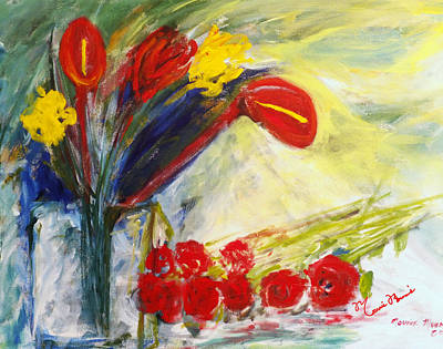 Painting - Summer Bouquet by Mounir Mounir