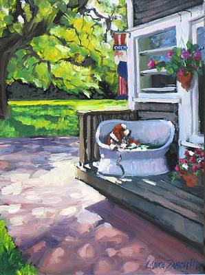 Cape Cod Painting - Summer Day On The Cape by Laura Lee Zanghetti