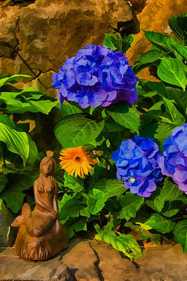 Photograph - Summer Flower Garden by Jeff Folger