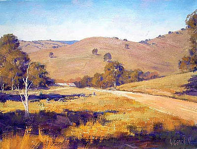 Sheep Grazing Painting - Summer Landscape by Graham Gercken