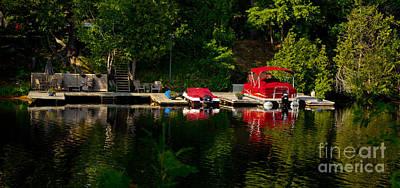 Muskoka Photograph - Summer Morning On Muskoka River by Les Palenik