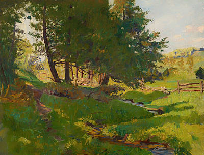 Beautiful Creek Painting - Summer Near Beaupre by Mountain Dreams