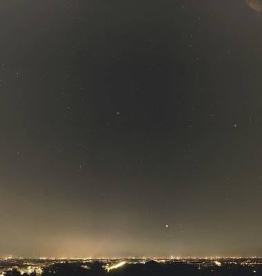 Summer Stars And Light Pollution Print by Eckhard Slawik