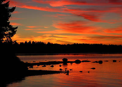 Photograph - Summer Sunset by Randy Hall