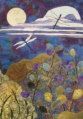 Tapestries Textiles Painting - Summer Twilight by Lynda K Boardman