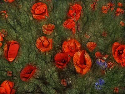 Cornflower Photograph - Summer Wind by Joachim G Pinkawa