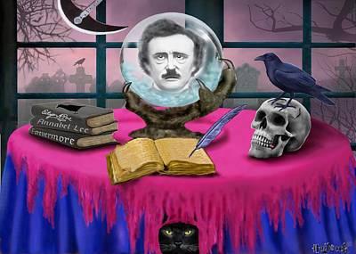 Pendulum Digital Art - Summoning Edgar Allan Poe by Glenn Holbrook