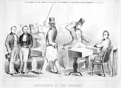 Abolition Movement Painting - Sumner And Brooks, 1856 by Granger