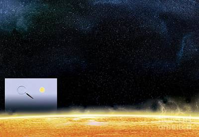 Sun And Betelgeuse, Artwork Art Print