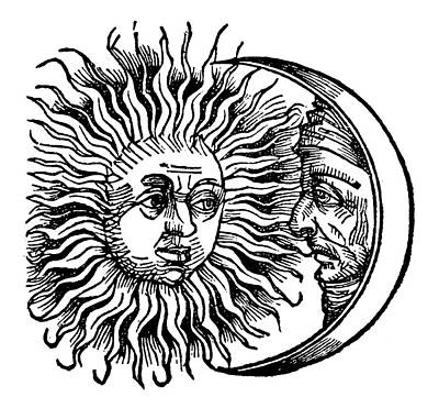 Man In The Moon Painting - Sun And Moon, 1493 by Granger