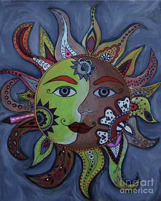 Painting - Sun And Moon Couple by Pristine Cartera Turkus