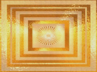 Sun Chakra Gold Pattern Textures Patterns Background Designs  And Color Tones N Color Shades Availab Art Print by Navin Joshi