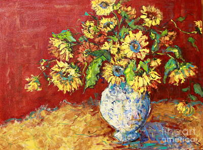 Sun Drenched Sunflowers Art Print