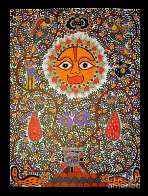 Painting - sun by Neeraj kumar Jha