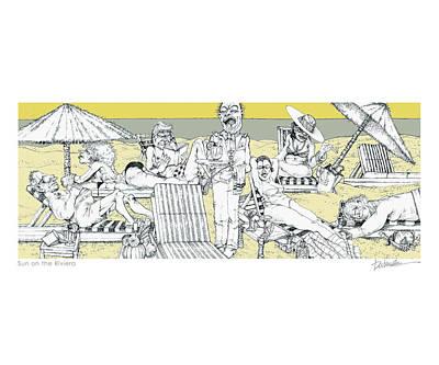 Sun On The Riviera Art Print