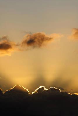 Sun Rays And Dark Clouds Art Print
