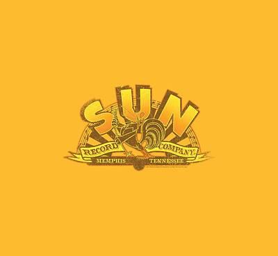 Rooster Digital Art - Sun - Rockin Rooster Logo by Brand A