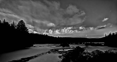Sunset At The Bridge Photograph - Sun Setting On The Moose River by David Patterson