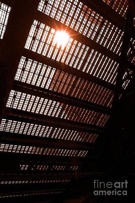Western Art - Sun star through the bridge by Cheryl Hurtak