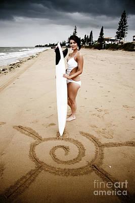 Sun Surf Sand Art Print