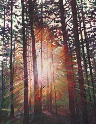Painting - Sunburst by Helen White