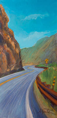 Streetscape Painting - Sunday Drive by Athena  Mantle