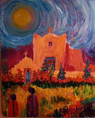 Sunday Morning In New Mexico Art Print by Carolene Of Taos