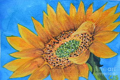 Painting - Sunflower by Cecilia Stevens