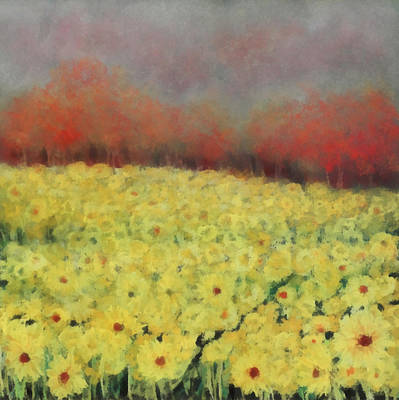 Intense Painting - Sunflower Days by Katie Black