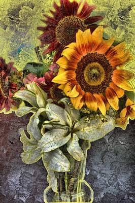 Mixed Media - Sunflower Et Al. by Terence Morrissey